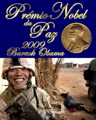 Image result for obama premio nobel de la paz 2009